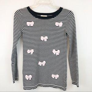 Kate Spade Black & White Stripe Sweater Girls 10